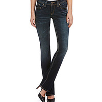 Silver Jeans Co. Suki Mid-Rise Baby Bootcut Jeans - Dark Blue