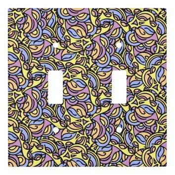 Colorful Abstract Pattern Light Switch Cover