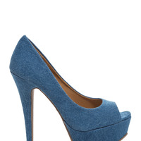 Peep These Platform Stiletto Heels
