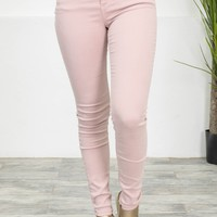 Stretchy Blush Skinny Denim