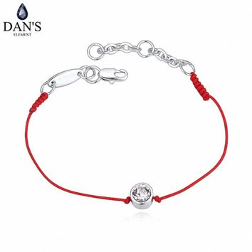 2 Colors Austrian Crystal  jewelry thin red thread string rope Charm Bracelets for women Fashion  summer style