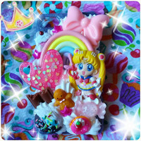 MADE TO ORDER, Inspired by Sailor Moon, Kawaii Sailor Moon/Sailor Scout Decoden Phone Case For Any Phone :3