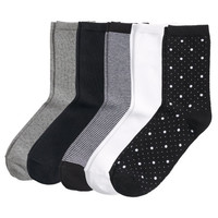 H&M - 5-pack Socks - Dotted/black - Ladies