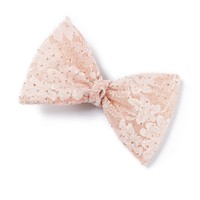 Glitter Floral Lace Bow Hair Clip  | Icing