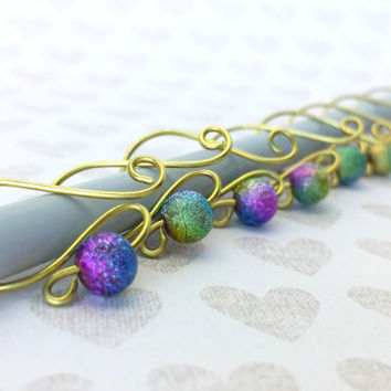 Removable Row Counters // Wire Stitch Markers // Knitting Needle Size US 13