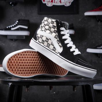 Supreme X Old Skool Vans Canvas Shoes Brand Women And Mens Supreme Logo Checkerboard S