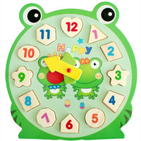3D Puzzle Wooden Toys Children's Educational Toy With Cartoon Pattern Digital Geometry Clock Baby Boy Girl Gift VBF76 T10 0.5