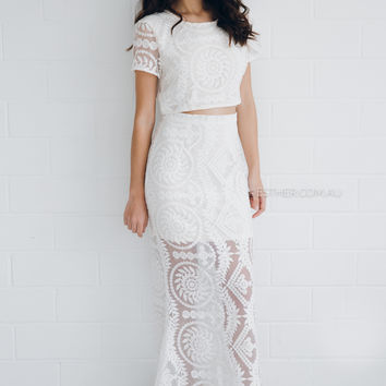 savannah two piece - ivory