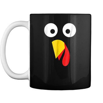 Turkey Face Thanksgiving  Halloween Costume Kids Adult Mug
