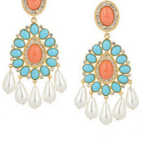 Kenneth Jay Lane | 22-karat gold-plated Swarovski crystal clip earrings | NET-A-PORTER.COM
