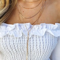 Do It Again Necklace: Gold