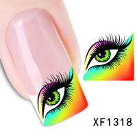 XF1318-Fashion New style Water Transfer Stickers 1 Sheets 3D Design DIY Nail Art Decorations Nail Sticker Nail Decal Nail Tools
