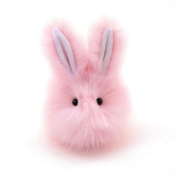Easter Bunny Stuffed Animal Cute Plush Toy Bunny Kawaii Plushie Sweet Pea Pink Fluffy Snuggly Cuddly Bunny Rabbit Toy Medium 5x8 Inches