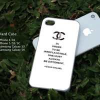 Choco Chanel Quotes iphone, ipod and samsung galaxy