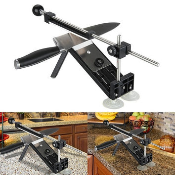 Professional Kitchen Knife Sharpener Sharpening NEW Updated Fix Fixed Angle with 4 stones I = 1843135940