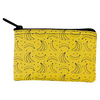 Fruit Banana Party Repeat Pattern Coin Purse