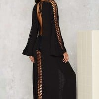 Nasty Gal Slash Into View Maxi Cover-Up