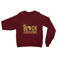 Black Excellence (Gold) Unisex Raglan sweater