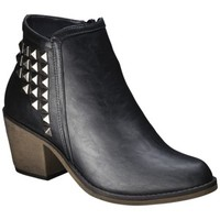 Women's Mossimo Supply Co. Kaden Studded Strap Ankle Boot - Black