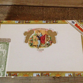 Vintage romeo y julieta cigar box