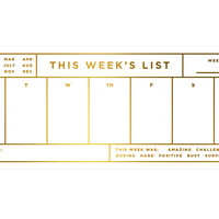 This Week's List Pad