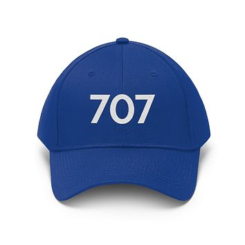 California 707 Area Code Embroidered Twill Hat