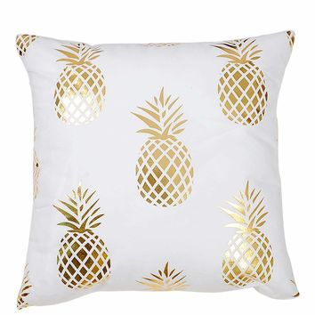 Pineapple Print Cushion Cover