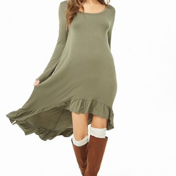 Ruffle-Hem High-Low Tunic