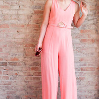 Thalia Cut Out Jumpsuit - Melon
