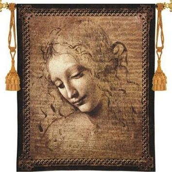 Female Head by Leonardo da Vinci Tapestry - 6792