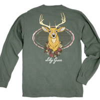 Lily Grace Long Sleeve Tee- Deer