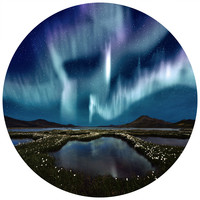 Aurora Borealis Circle Wall Decal