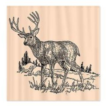 Deer Drawing Shower Curtain> Shower Curtains> We Tees You