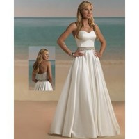 Satin Strapless Sweetheart 2012 A-Line Wedding Dress - Basadress.com