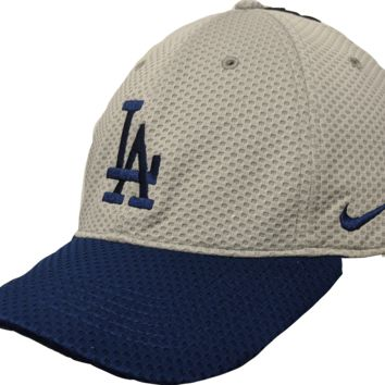 Men's Los Angeles Dodgers Nike Gray Mesh Logo Performance Adjustable Hat