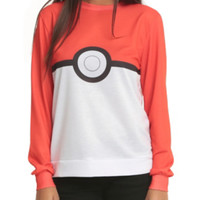 Pokemon Poke Ball Girls Pullover Top