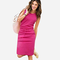 Summer Sleeveless Cotton Casual Dress