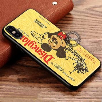 Yellow Disneyland Ticket Cute iPhone X 8 7 Plus 6s Cases Samsung Galaxy S8 Plus S7 edge NOTE 8 Covers #iphoneX #SamsungS8