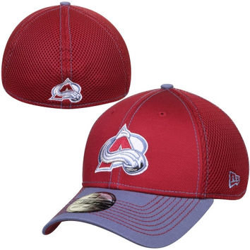 Colorado Avalanche New Era Two-Tone Neo 39THIRTY Flex Hat – Burgundy/Light Blue