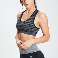 Low Impact - Striped Seamless Sports Bra