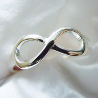 Engravable Sterling Silver Infinity Ring Handmade All Size