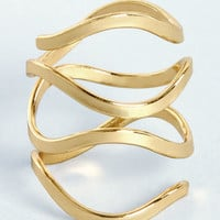 Catch a Wave Gold Ring