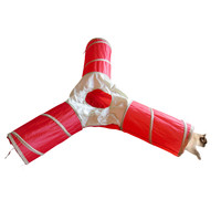"""Evelots Foldable 3 Way Cat Tunnel, 35""""L, Pet Supplies & Toys, Red & Beige"""