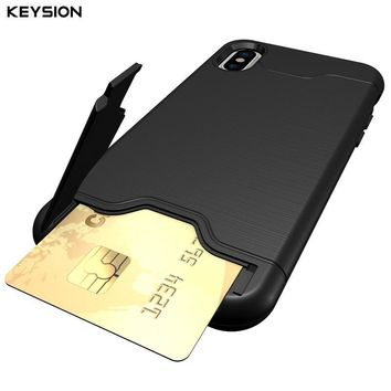 KEYSION I PHONE X KICKSTAND CARD CASE