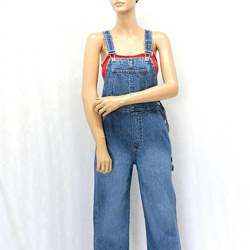 Vintage Gap Overalls / size XS / S / 90s GAP bib overalls / denim over all jeans / carpenter overalls / retro grunge