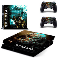 Fallout s.p.e.c.i.a.l design skin for ps4 decal sticker console & controllers