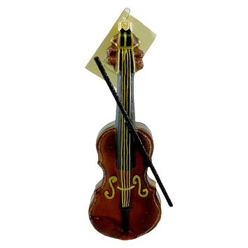 Tannenbaum Treasures Violin Glass Ornament