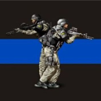Swat Team Thin Blue Line Police Law Enforcement Car Truck Tag