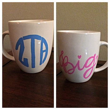 ZTA Coffee Cup, Sorority Coffee Mug