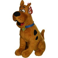 """Pyoopeo Ty Beanie Babies 6"""" 15cm Scooby-Doo the Dog Plush Regular Stuffed Animal Collection Soft Doll Toy with Heart Tag"""
